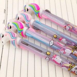 Image 2 - 13 Uds o 36 uds/lote de bolígrafos de Gel de unicornio de colores bolígrafo de 0,5mm bolígrafo de tinta negra regalo de escritura