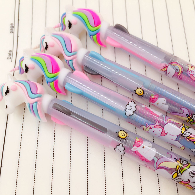 Image 2 - 13 pcs or 36pcs/Lot Color Unicorn Gel Pens 0.5mm Roller Ball Black Ink Pen Writing gift-in Gel Pens from Office & School Supplies