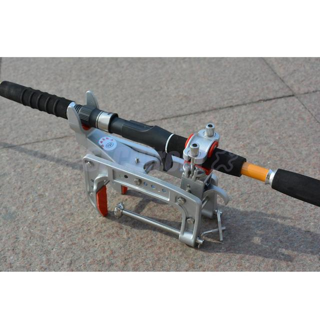 Barco mar marinho vara de pesca suporte suporte pólo suporte ajustável grampo para 15 50mm haste