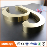 Custom metal letter sign 3d letter signs