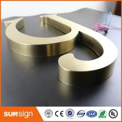Custom metal letter sign 3d letter signs