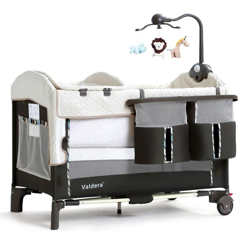 Valdera lit pliant portable multifonction bébé lit épissage grand lit nouveau-né berceau