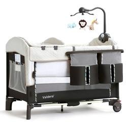 Valdera portable folding butt cot multifunction baby bed splicing big bed newborn cradle