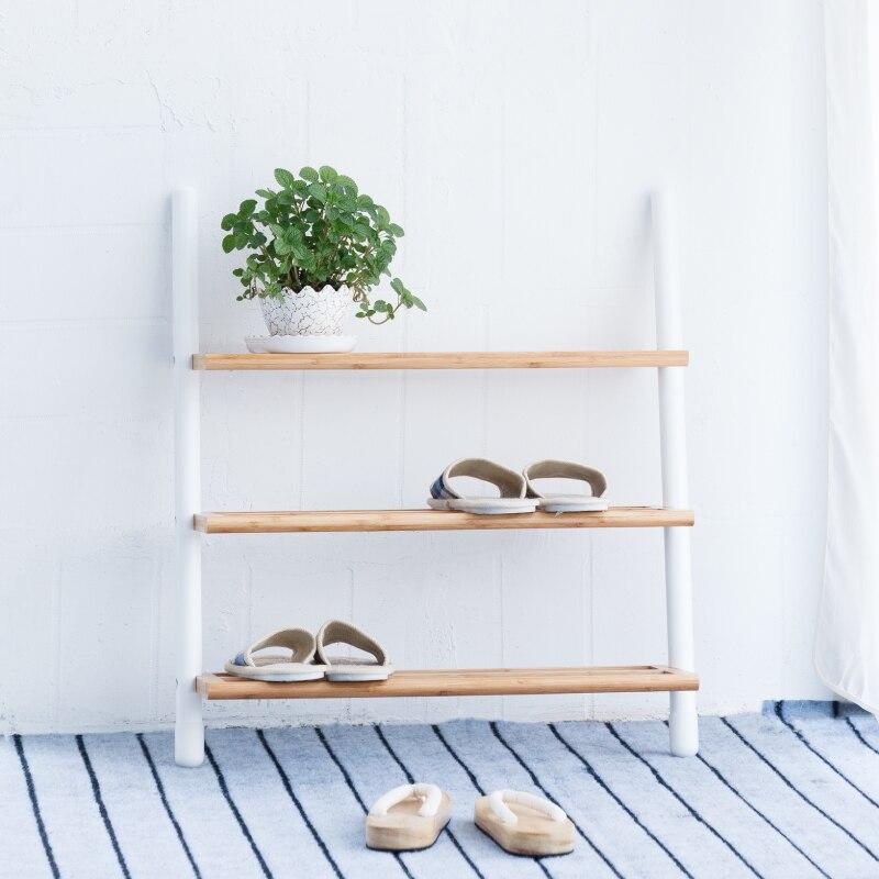 Shoe Rack Assemble 3 Ties Rack Stand White Shoes Organizer Shelf Entryway...