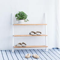 Shoe Rack Assemble 3 Ties Rack Stand White Shoes Organizer Shelf Entryway Furniture Home Decor