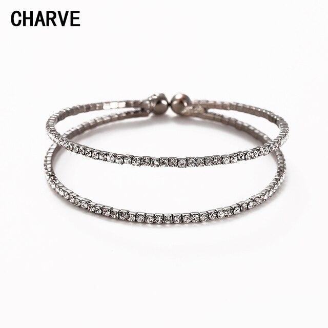 08da44bc4df CHARVE Marque Bracelets Pour Femmes Strass pulseiras