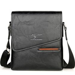 Marca clássico bolsa masculina estilo vintage casual masculino couro mensageiro sacos de ombro crossbody sacos de negócios para homem
