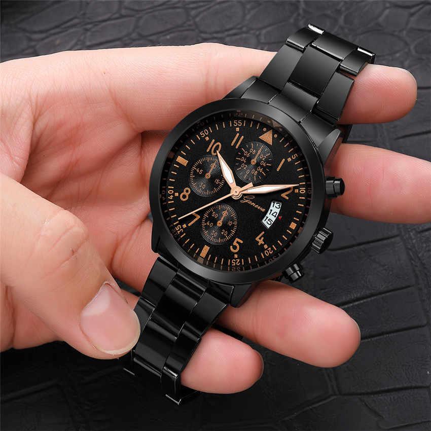 Relojes Hombre นาฬิกาผู้ชายแฟชั่นนาฬิกาควอตซ์หรูหราธุรกิจนาฬิกากันน้ำ Relogio Masculino