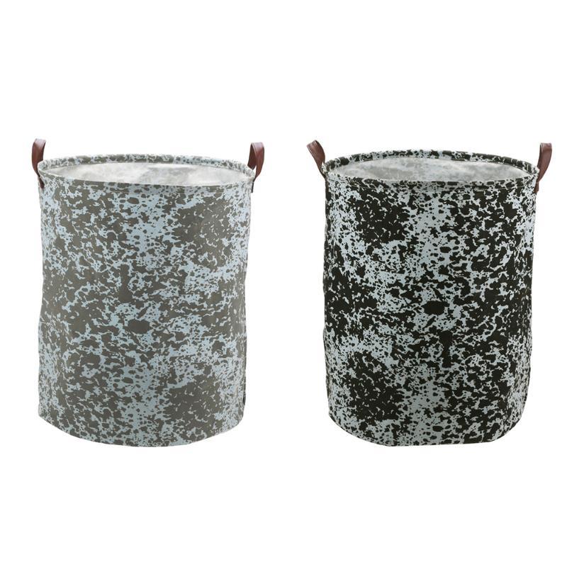 Dustproof Square Laundry Basket Canvas Washing Laundry Bag Hamper Storage Dirty Clothing Sundries Handle Storage Bag