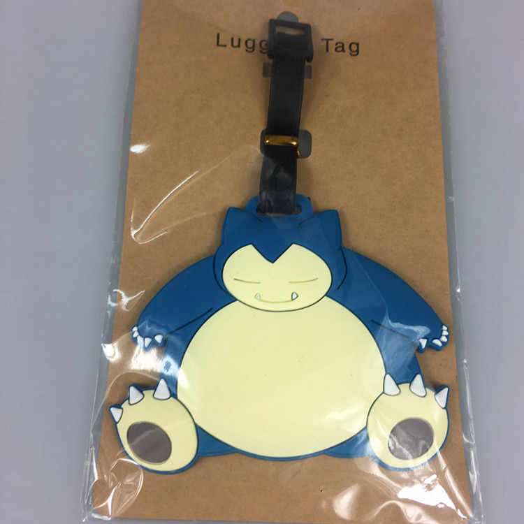 Travel Accessories Luggage Tag Cute Cartoon Pokemon Suitcase Tag viaggio Name ID Label Tags Silica Gel PVC Bag Tag Dropshipping