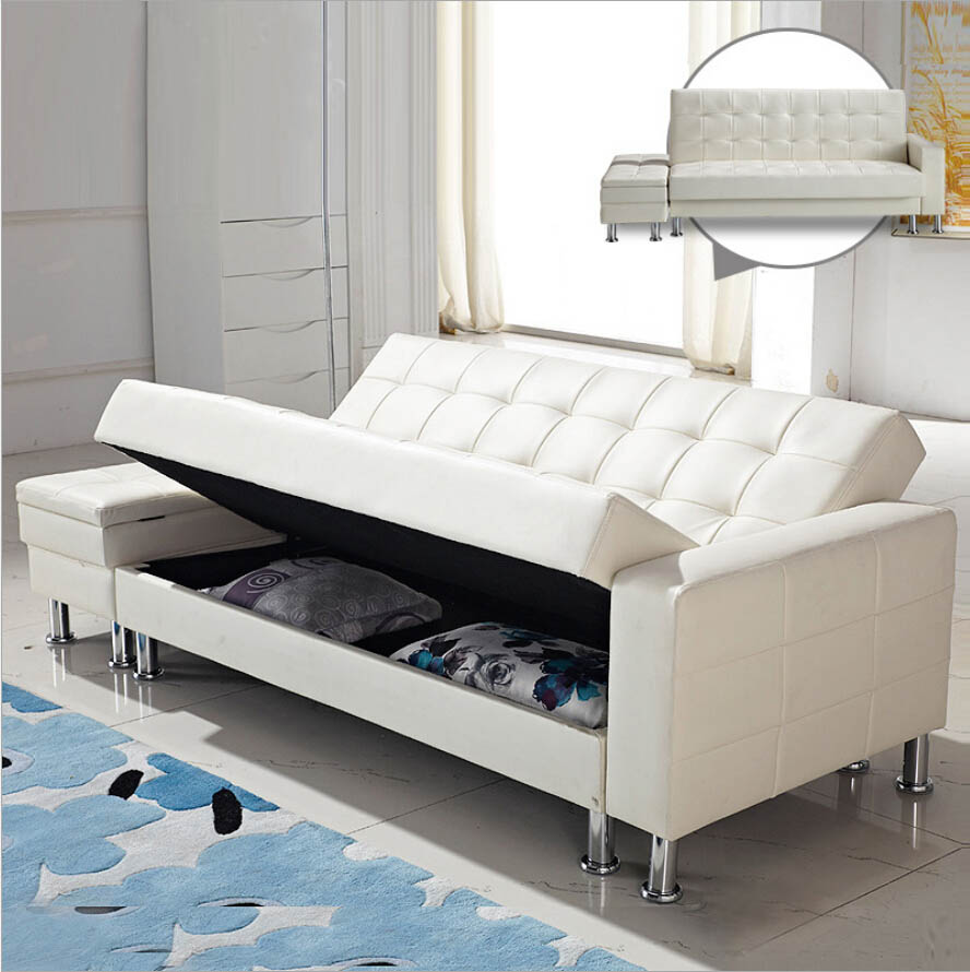 Webetop modern design pu sofa sets multi function lazy for Design of bed furniture