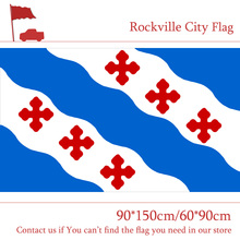 Free shipping Maryland State Rockville City Flag 90*150cm 60*90cm Decorative 100d 3x5ft Polyester Custom Banner цена и фото