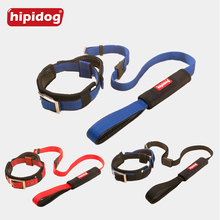 Hipidog Reflective Adjustable Collar with Integrated Leash & Grab Handle No-pull Leashes Leads Sets for Large Medium Dogs Pets