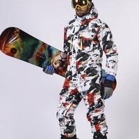 Saenshing цельный лыжный костюм мужские непромокаемые утолщенные сноубордические куртки лыжный комбинезон на открытом воздухе снежные горные