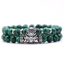 KANGKANG 2 pieces /set Trend 18 colors Natural stone bracelets animal For Women Men Cool hot Selling bracelet