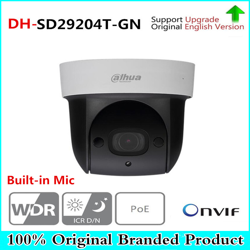 купить DH DH-SD29204T-GN 2Mp Network Mini IP Speed Dome 4x optical zoom PTZ ip camera built-in MIC SD29204T-GN with logo по цене 9179.66 рублей