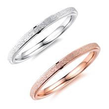 OLOEY 2019 Simple Rose Gold Color Women Rings New Titanium Steel Knuckle Ring Female Casual Hand Jewelry Accessories Gifts