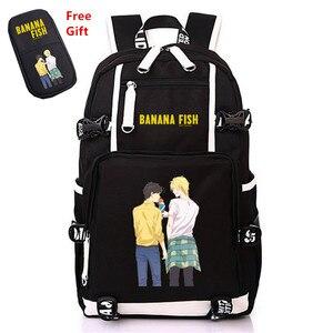 Image 1 - Anime BANANA PESCE borsa di Tela Zaino Cosplay Borse Da Scuola Anime Del Computer Portatile Zaino Unisex Zaino Da Viaggio Donne Borse A Spalla