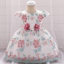 цена на MQATZ Baptism Christening Dress For Baby Girl Dress Print Princess Dress Wedding Dresses Girl Party 1st Birthday 3 6 12 24 Month