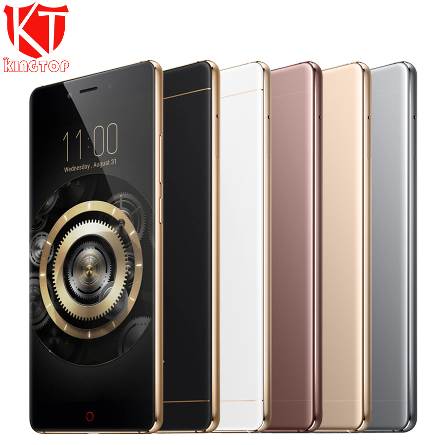 "KT New ZTE Nubia Z11 Mobile Phone 6GB RAM 64GB ROM Snapdragon 820 Quad Core 5.5"" Borderless 16MP NFC Fingerprint 4G Mobile Phone"