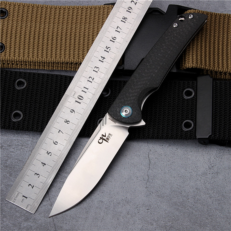 2018 New Hot Sale VG10 Steel Outdoor Survival Camping Folding Knife Carbon Fiber Ball Bearing Tactical Hunting Knives EDC Tools hx small mercenary survival hunting knife d2 steel blade fixed blade knife straight camping knives multi tactical hand tools