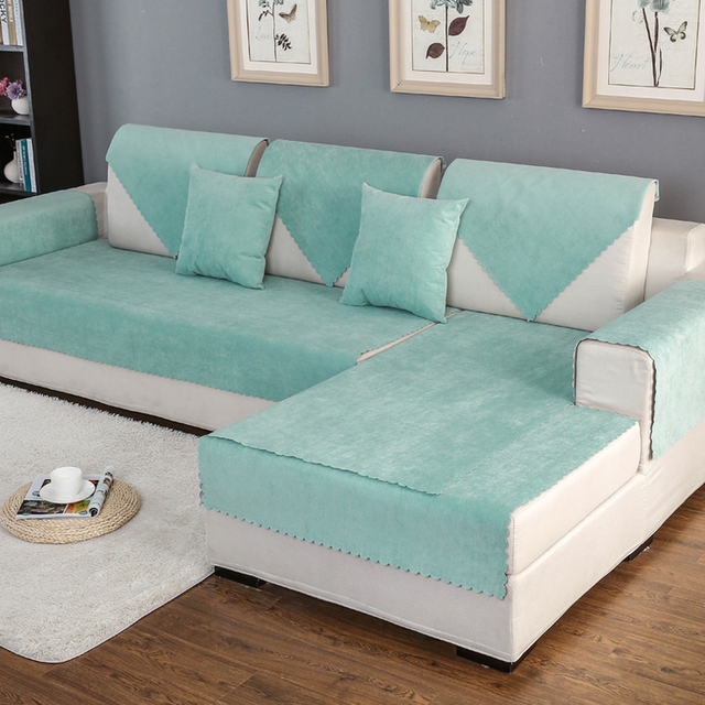 Sofa Slipcover Sectional Couch Covers Modern Corner Waterproof Towel Home Decoration