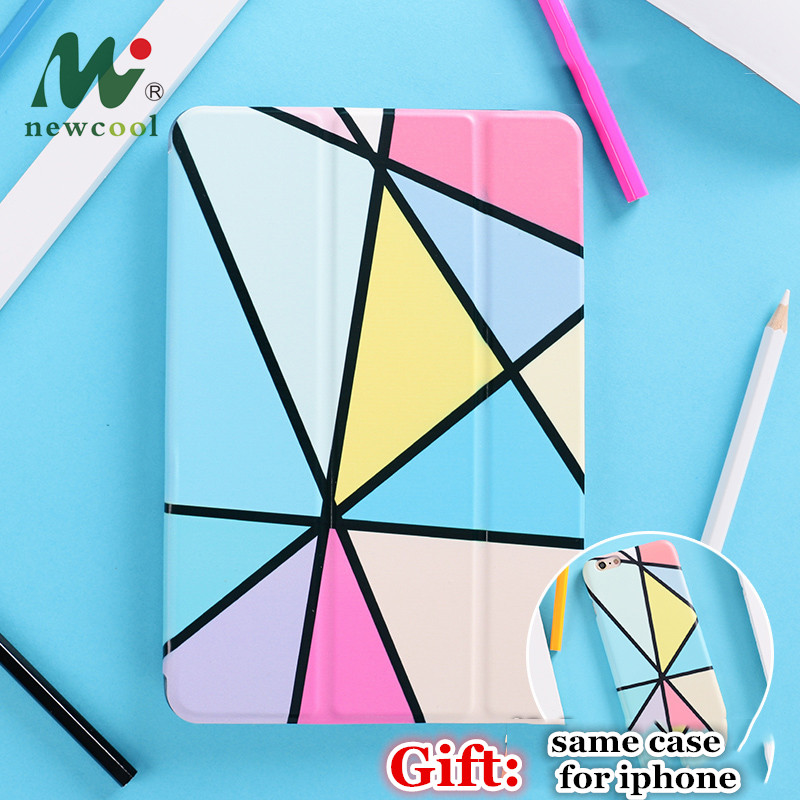 "Geometry Magnet Flip Cover za iPad Pro 9.7 ""11 12.9 10.5 Air Air2 Mini 2 3 4 Ohišje tabličnega računalnika Flip Cover za Novi ipad 9.7 2017 2018"