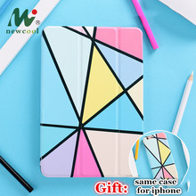 Geometry Magnet Flip Cover For iPad Pro 9.7 11 air 10.5 10.2 12.9 Air2 Mini23 4 5 2019 Tablet Case New 2017 2018
