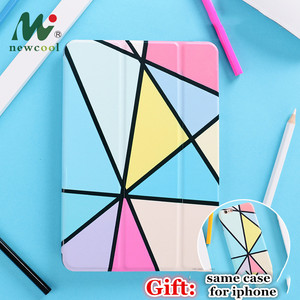 Geometry Magnet Flip Cover For iPad Pro 9.7 11 air 10.5 12.9 Air2 Mini 1 2 3 4 5 2019 Tablet Case for New iPad 9.7 2017 2018