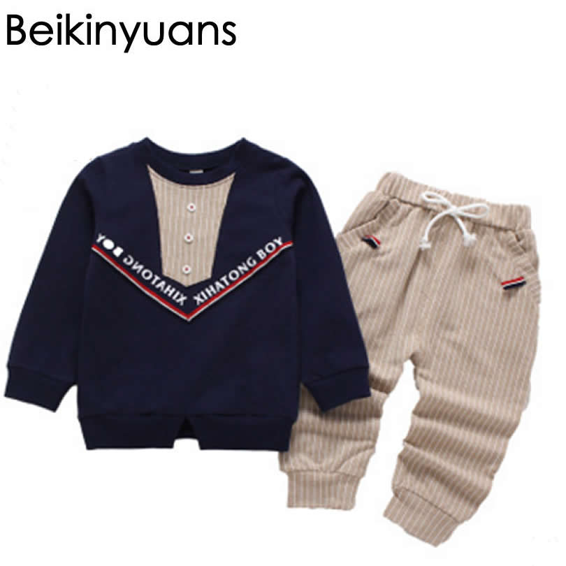 Baby Boy Clothes Bebe Boys Clothes Set Toddler Infantil Baby Clothing Infant Boys Gentle Kid Set Autumn 3-7 year Beikinyuans 2pcs set baby clothes set boy