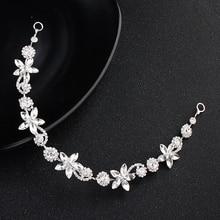 Bridal Crystal Headpiece Headband Crystal Hair Jewelry Wedding Hair Acc