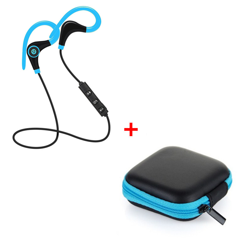New Wireless Bluetooth Earphone Handfree Sport Noise Cancelling music Headphone Wireless Headset for Smartphone+earphone case new dacom carkit mini bluetooth headset wireless earphone mic with usb car charger for iphone airpods android huawei smartphone