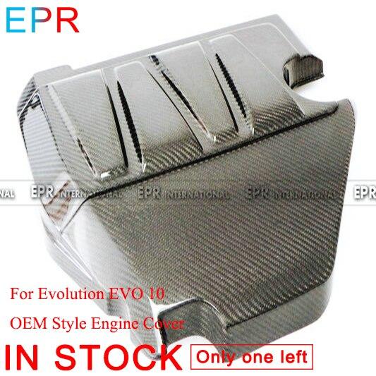 Для Evolution EVO 10 OEM стиль крышка двигателя из углеродного волокна для Mitsubishi глянцевое волокно аксессуары для интерьера