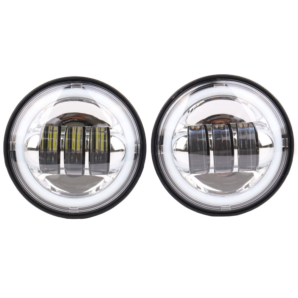 Шт. 2 шт. хром/черный 4-1/2 4,5 30 Вт светодио дный Противотуманные фары ближнего света DRL угол глаза для Harley Davidson Hummer (кроме года 1957)