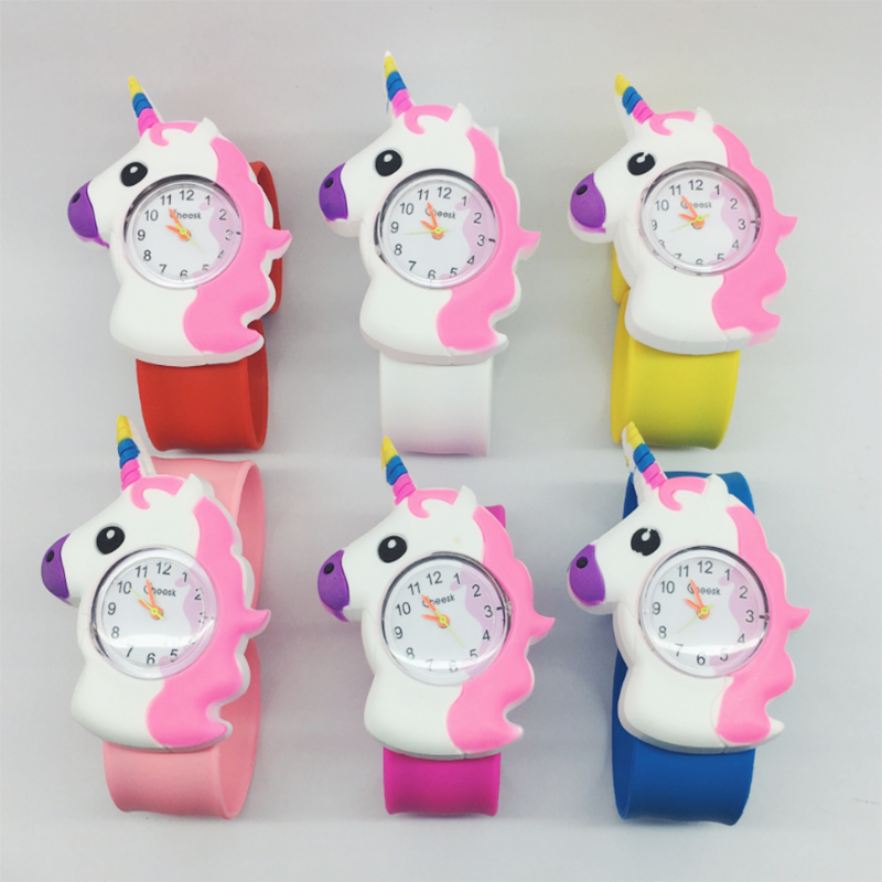 3D Cartoon Animal Kid Watches Casual Quartz Wristwatch Silicone Band Slap Watch Children Sports Watch Cute Baby Clock Gift 2017 cartoon animal women watch