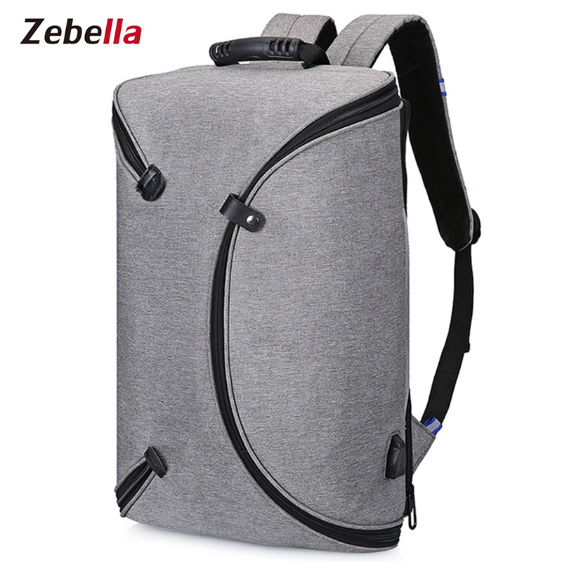 dc2c5c45ec Zebella Brand USB Charging Men Backpack Unisex Light Slim Minimalist  Fashion Mens School Waterproof Bag Laptop Backpacks Mochila-in Backpacks  from Luggage ...