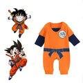 Dragon Ball Новорожденного Мальчика с Длинным Рукавом Боди Комбинезон Костюм новорожденный мальчик одежды тело младенца детские боди