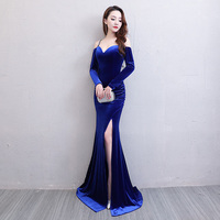 Floor Length Full Manual Sexy Star Full Prom Evening Dresses 2018 Cocktail Dress Night Entertainment Venue