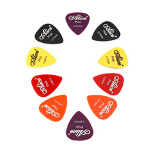Top 100pcs Bass Guitar Picks Colorful Thickness Mix 0.58-0.81mm Plectrum Mediator Guitar Musical Instrument With Plastic Box