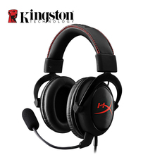 Kingston HyperX Cloud Core Headphones with Microphone Hi-Fi Auriculares Silver Gaming Headset For PC PS4 Xbox One Mobile kingston hyperx cloud ii headset hi fi 7 1 surround sound gaming headphone with microphone 3 5mm for computer cellphone earphone