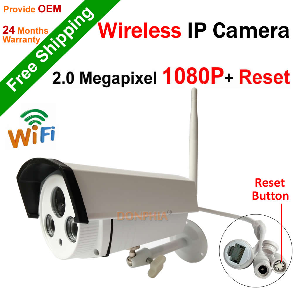 ФОТО Free shipping! Full HD 1080P outdoor Wifi IP Camera support Onvif P2P Reset button Wireless 2.0MP IR night vision Security Cam