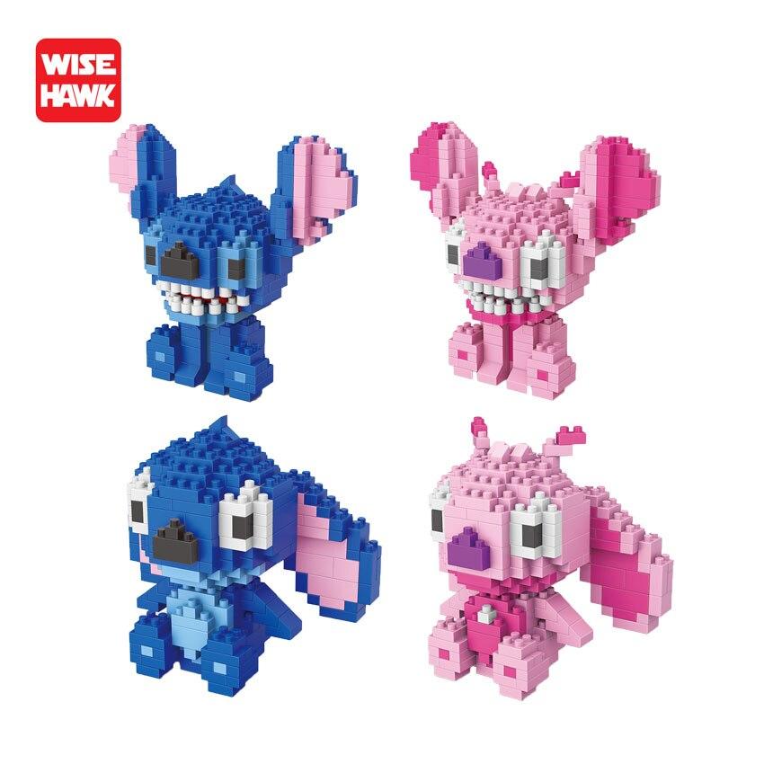 Diy Buildi Blocks Toys Stitch Anime Cartoon Plastic Building Model Mini Bricks Educational Toys Game For Kids With Instructions