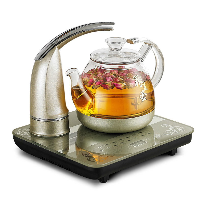 Electric kettle Fully automatic upper electric glass boiled teapot tea set fully automatic upper water electric kettle 304 tea set teapot for household use