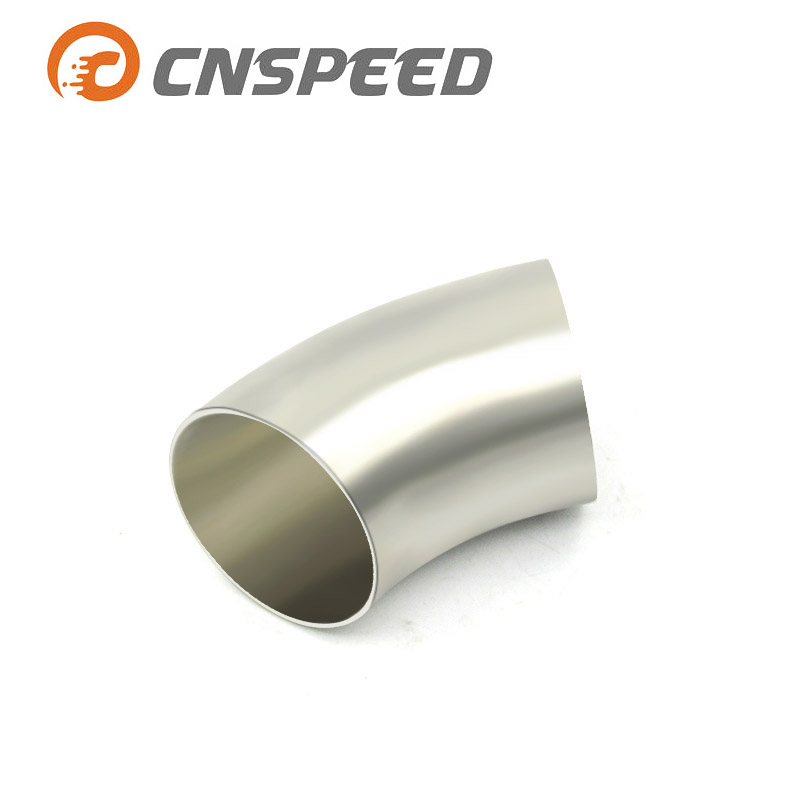 CNSPEED 1PC 2 ''51mm/60mm/2,5'' 63mm/3''76mm 201 Edelstahl 90 grad Biegen Elbow Rohr YC101154