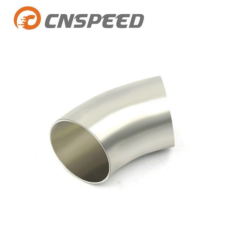 CNSPEED 1PC 2 ''51mm/60mm/2.5'' 63mm/3''76mm 201 ze stali nierdzewnej 90 stopni zginania rura łokciowa YC101154