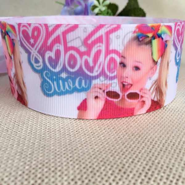 38mm Free shipping jojo coco cartoon printed grosgrain ribbon accessory hairbow headwear DIY decoration