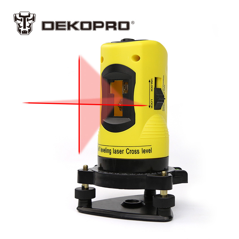 DEKOPRO LL02 Household 2 Lines Cross Laser Level 360 Rotary Cross Laser Line Leveling Can Be Used with Outdoor Receiver rjp6026 to 220f
