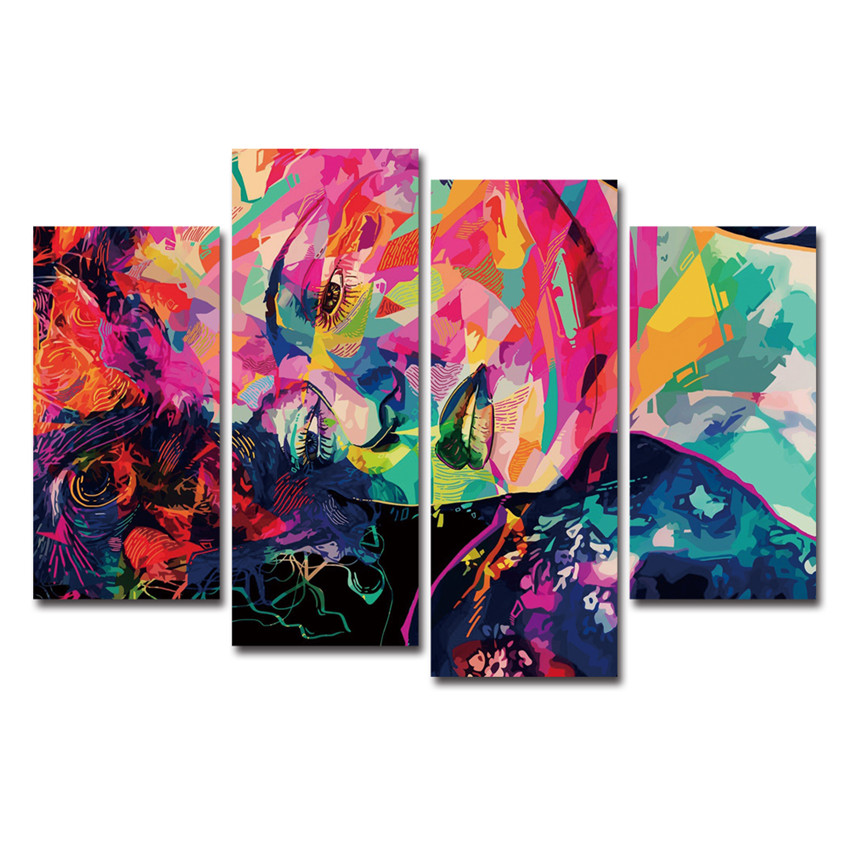 Cuadros Decoracion colorful Girl Canvas Painting Wall Pictures For ...