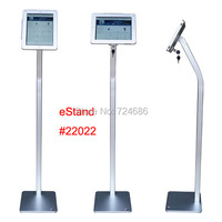 for iPad 2/3/4/air/pro 9.7 inch tablet security floor stand display kiosk standing support with lock anti theft enclosure