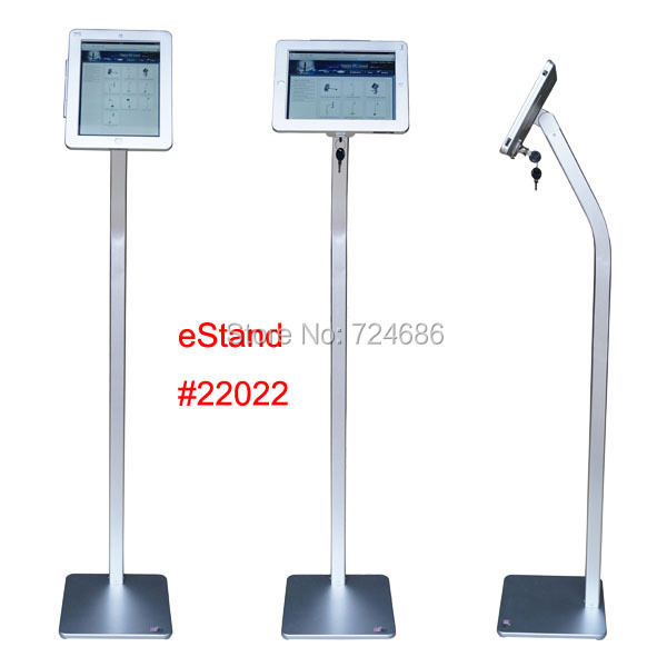 for iPad 2/3/4/air/pro 9.7 inch tablet security floor stand display kiosk standing support with lock anti-theft enclosure for ipad 2 3 4 air pro 9 7 desktop secure lock stand with metal frame brace display kiosk pos table security holder on hotel